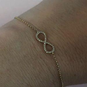 Effy diamond infinity bracelet.